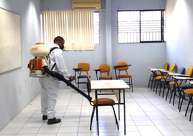 Faculdade IESM realiza sanitização nas dependências da instituição